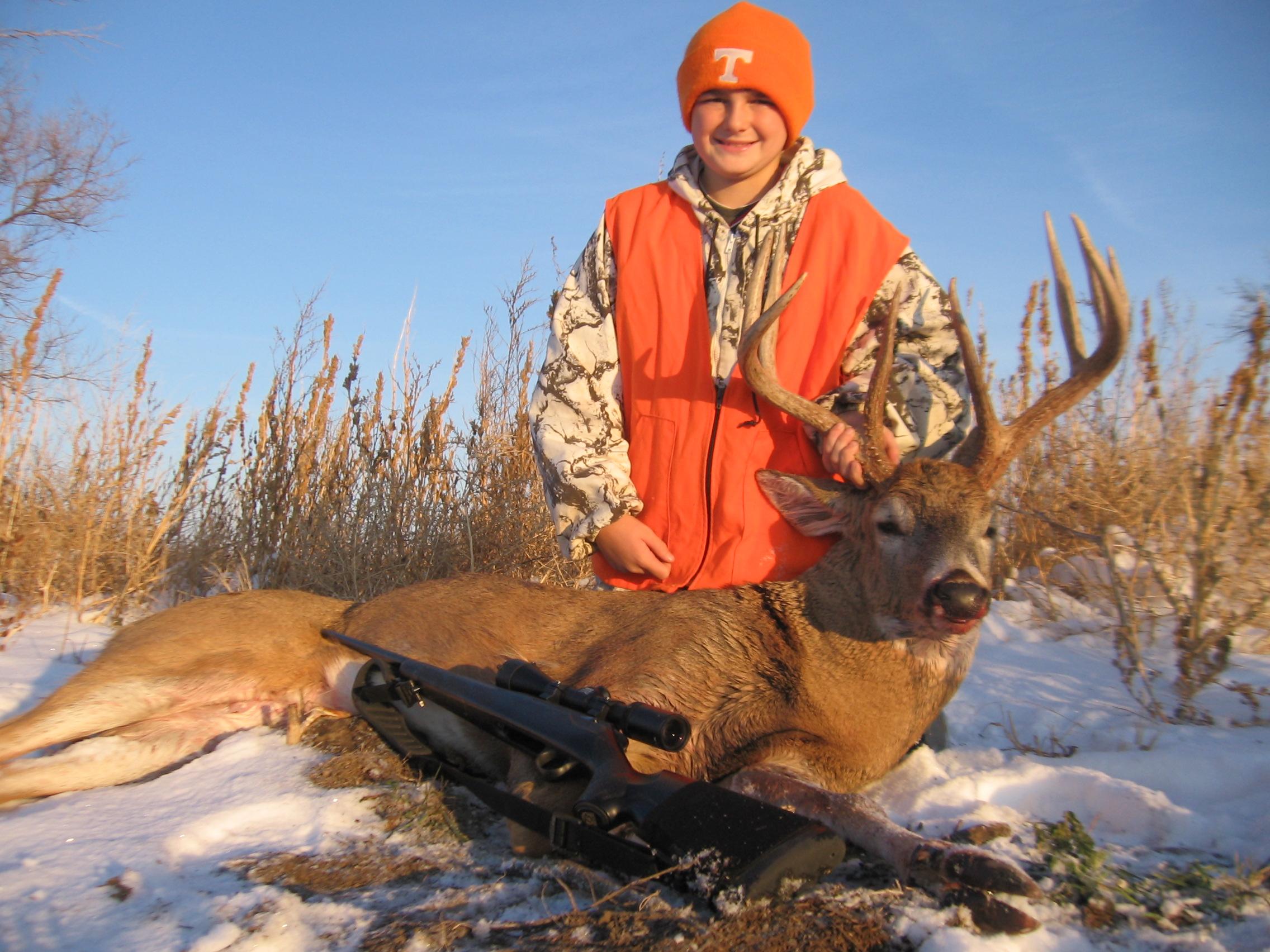 brandons first buck 2011