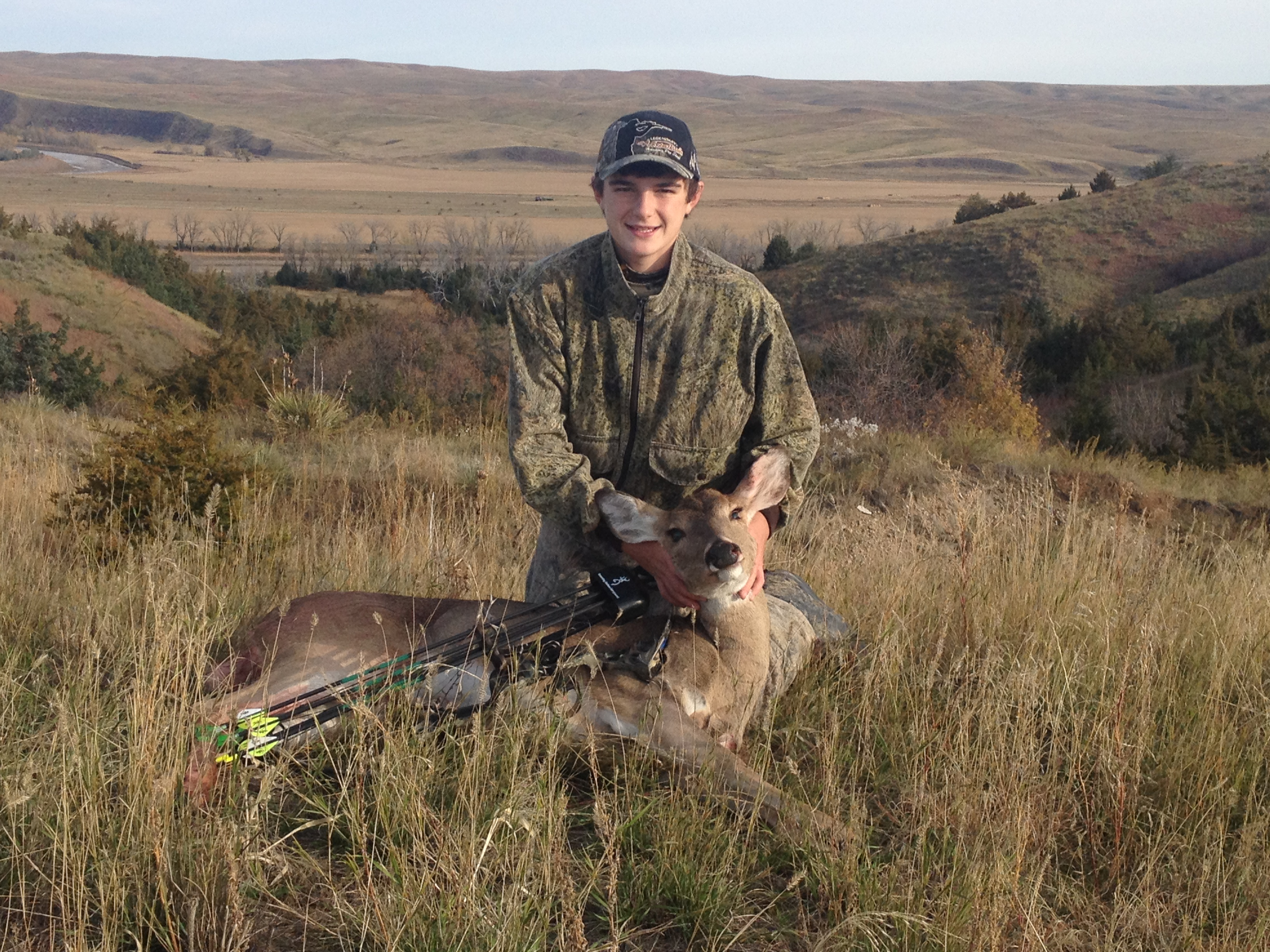 Brandon's First Archery Deer 2013